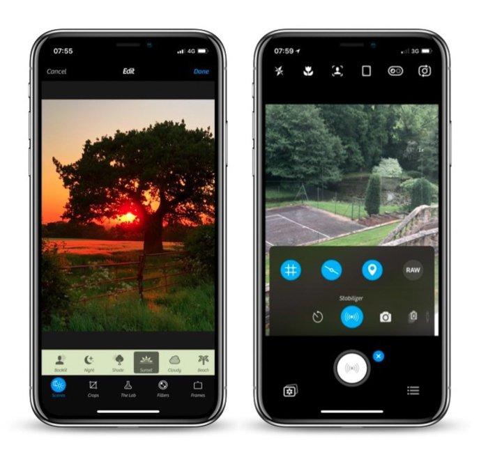 camera+ 2 app for iphone manual settings