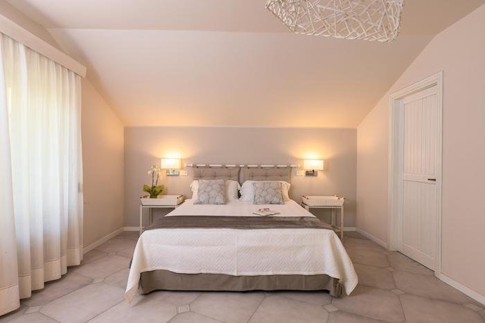 A beautiful real estate shot of the interior of a bedroom