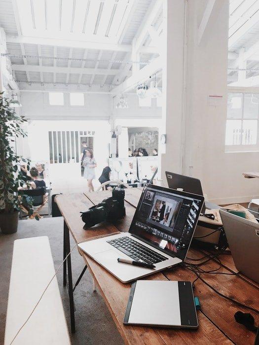 An office desk