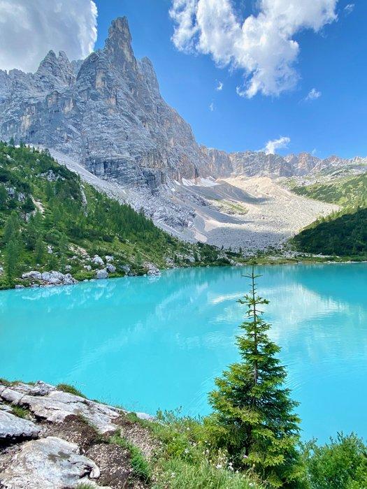 Stunning mountainous landscape surrounding a lake