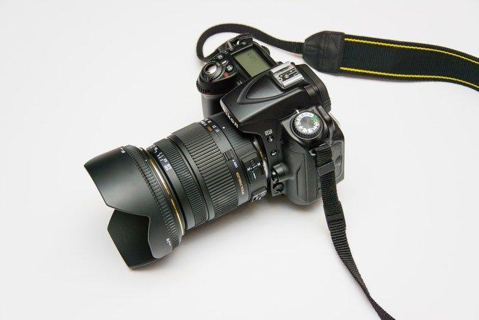 A Nikon DSLR for portrait photography