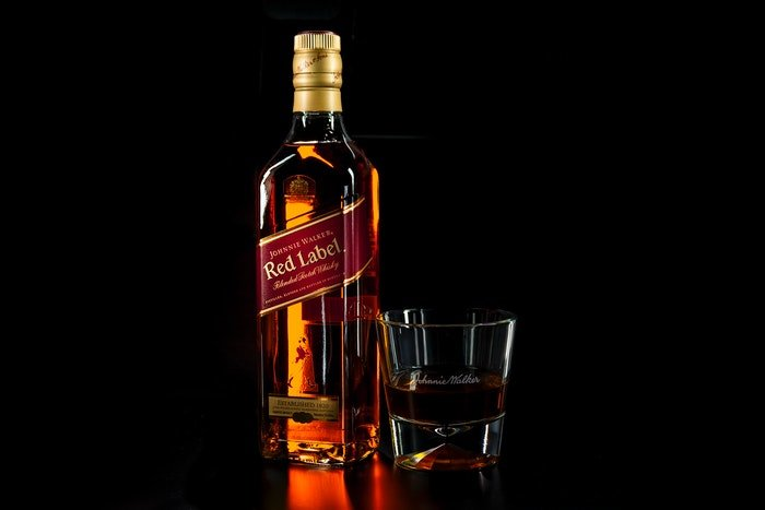 A product shot of Johnny Walker whiskey