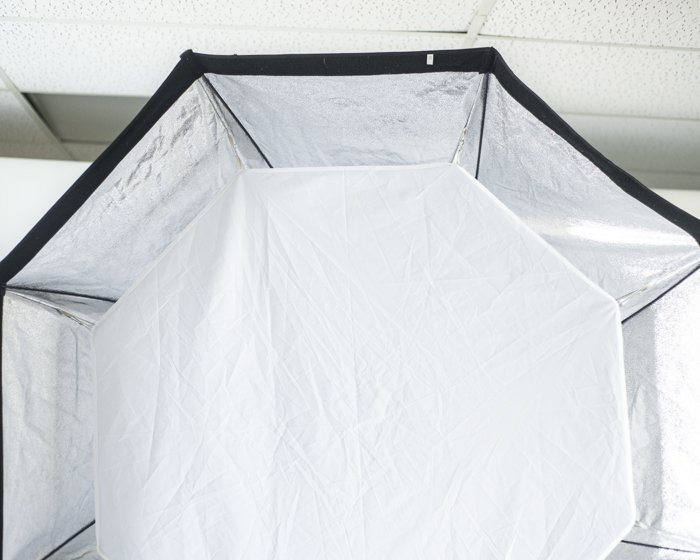 Photo of the inner diffusion panel in a softbox