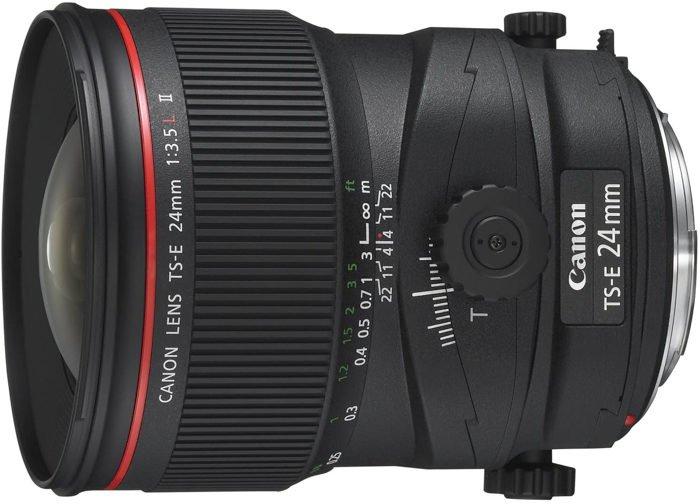 an image of a Canon-TS-E 24mm tilt shift lens