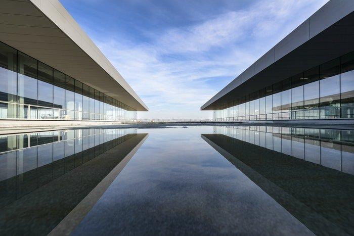 Mirrored buildings