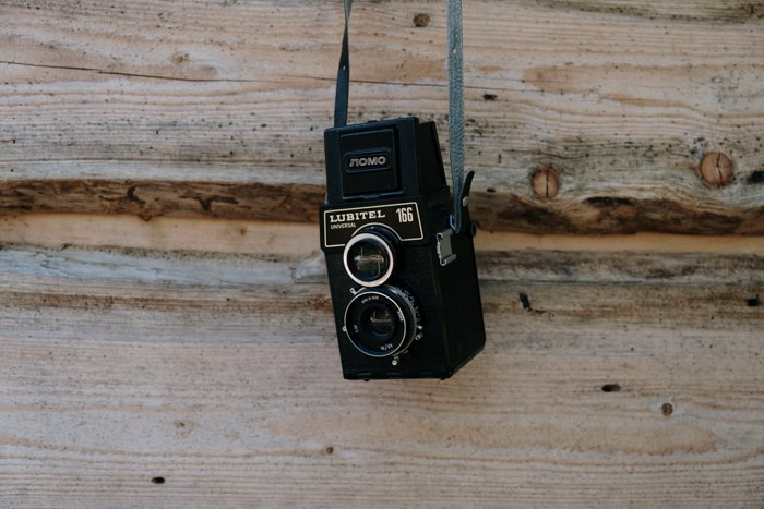 An old film camera