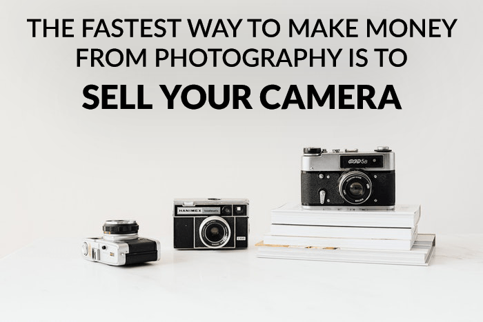 Funny photography meme over a photo of cameras