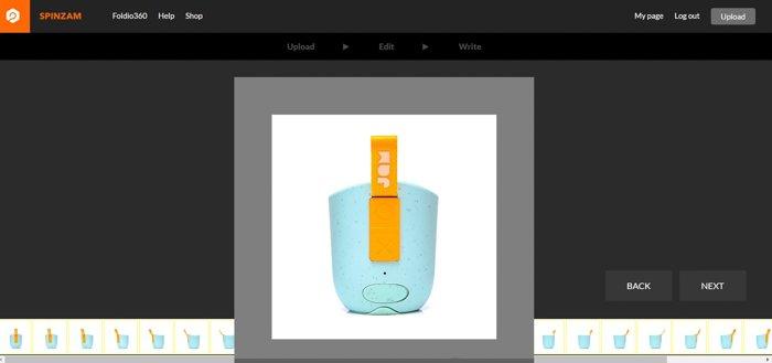 Screenshot of editing photos in Spinzam 360 viewer.