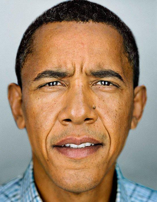 A close-up-portrait of Barack Obama