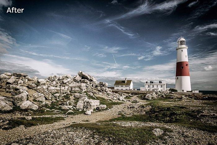 photo of lighthouse edited inCinematic HDR Lightroom Presets by Loaded Landscapes
