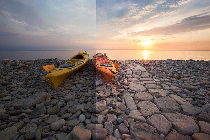 Screenshot of beautiful Sunrise Lightroom Preset
