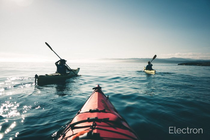 Image of kayaks edited with The Ouantum Collection Lightroom presets from Photon Collective