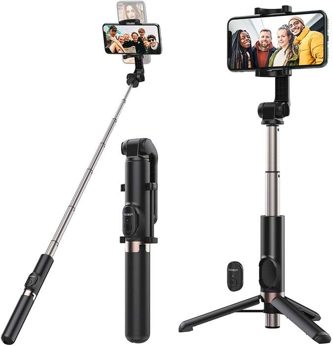 Yoozon 1.2m Max Bluetooth Selfie Stick Tripod for iphone