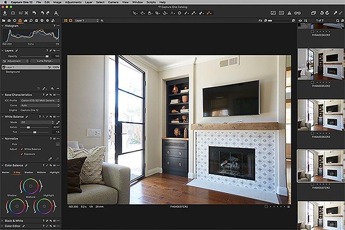 a screenshot of captureone photo editing software interface