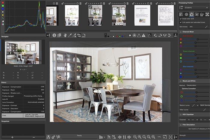 a screenshot of the rawtherapee interface