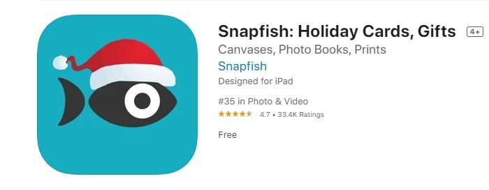 a screenshot of snapfish free picture printing app