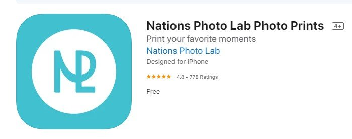 a screenshot of nations free picture printing app