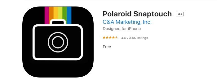 a screenshot of polaroid snaptouch photo print app from the iOS app store