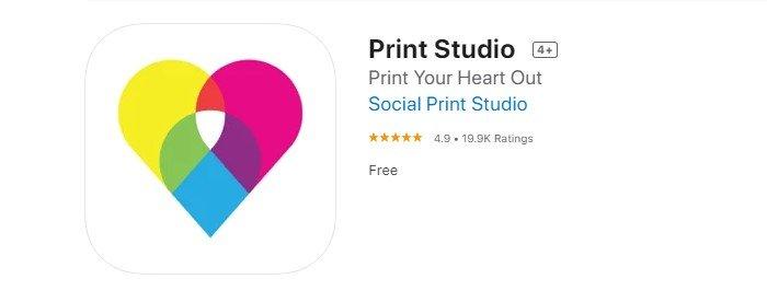 a screenshot of print studio free picture printing app