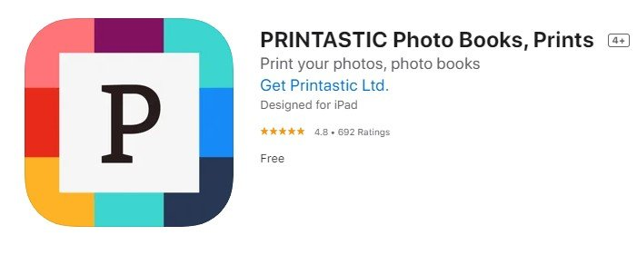 a screenshot of printastic from the iOS app store