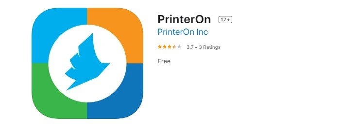 a screenshot of printer on photo print app from the iOS app store