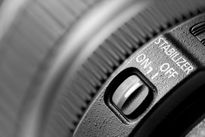 a closeup image of a camera lens stabilizer
