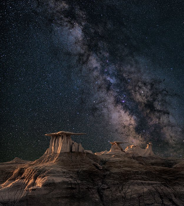 An impressive photo of the milky way