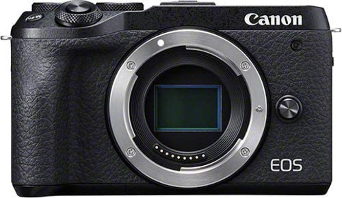 an image of a Canon EOS M6 Mark II mirrorless camera