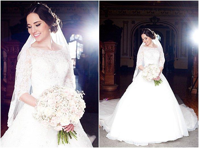 Diptych wedding portrait of the bride