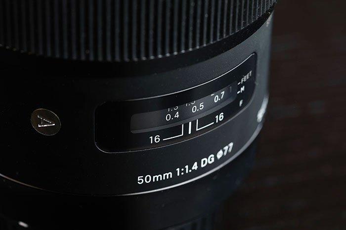 Image of the Sigma 50mm f 1.4 dg hsm art lens