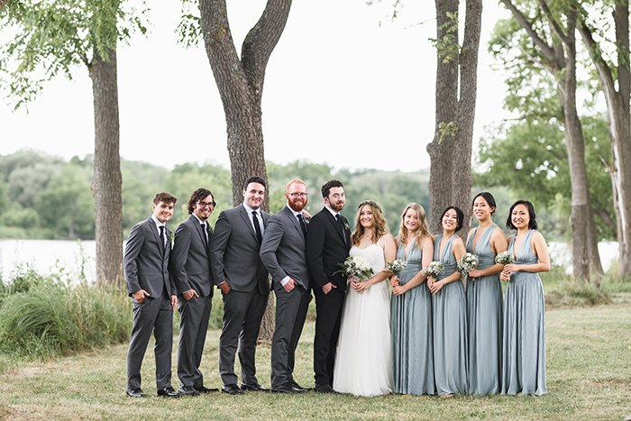 A group in a wedding ceremony photographed with a Sigma 85mm f/1.4 Art lens