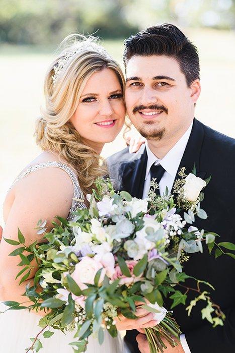 Wedding portrait taken with the Sigma 85mm f/1.4 Art
