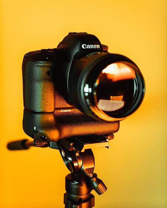 Image of a Canon DSLR camera