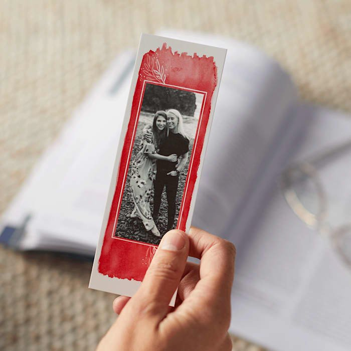 A personalised photo gift bookmark