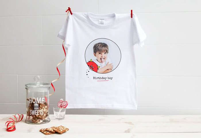 A t-shirt with portrait photo printed on it