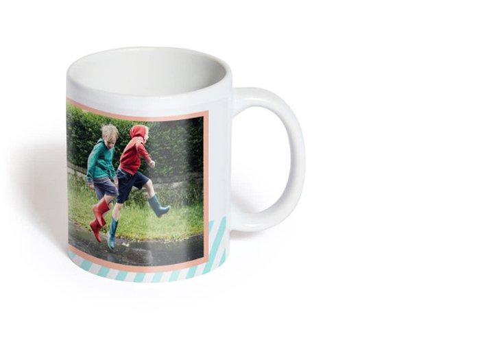 A personal photo gift mug