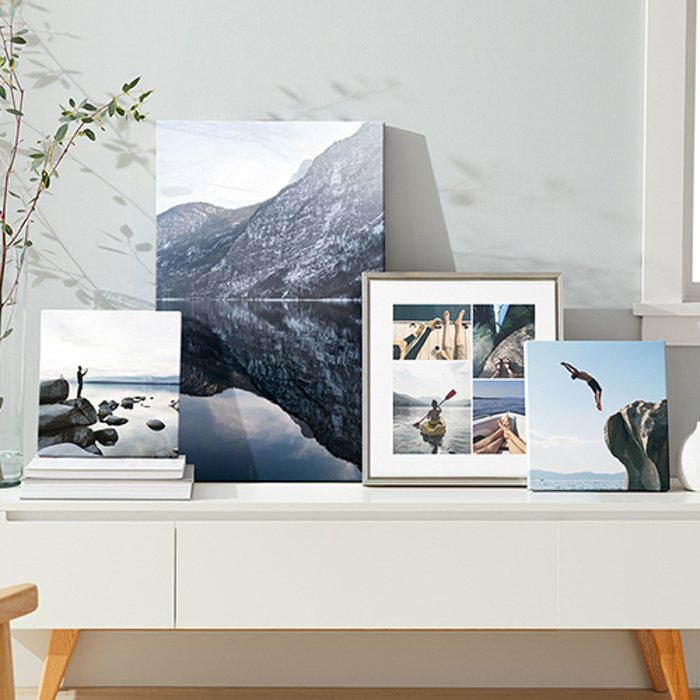 printed photos in frames
