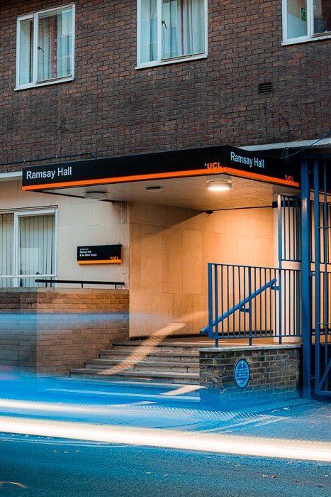 Long exposure image of subway entrance taken with the Canon RF 70-200mm f/2.8L IS USM