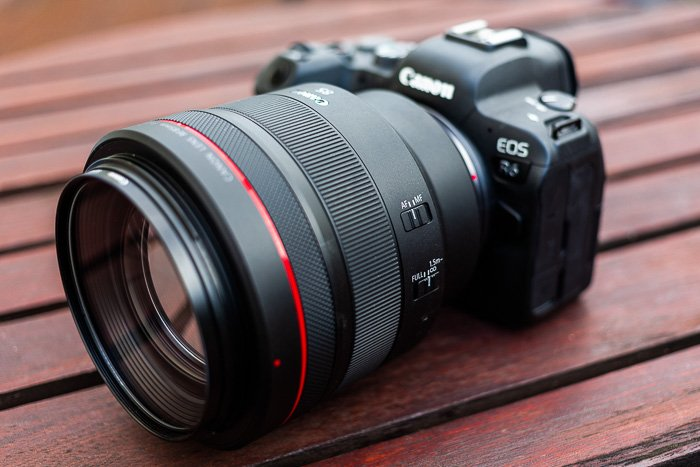 Image of the Canon RF 85mm f/1.2L USM lens mounted on a Canon R6