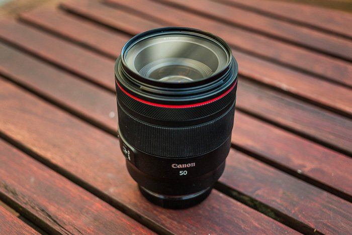 Image of the Canon RF 50mm f/1.2L USM mirrorless lens