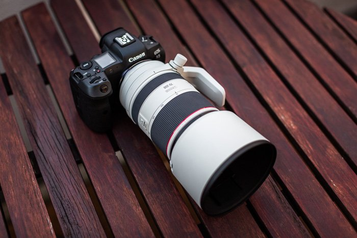 Image of the Canon RF 70-200mm f/2.8L IS USM mounted on the Canon EOS R5