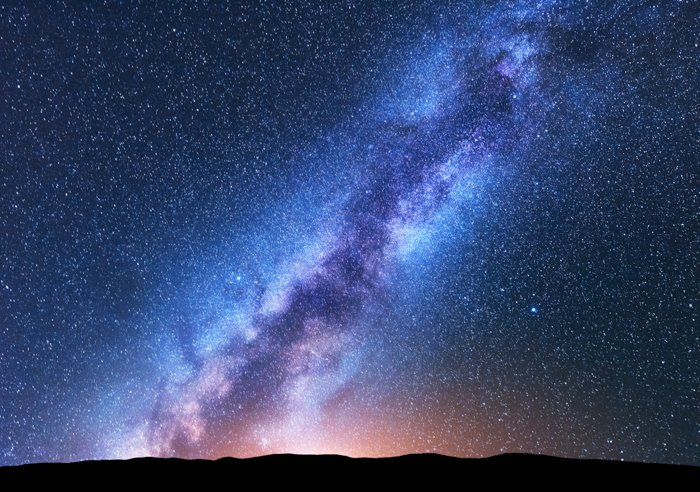 Amazing astrophotography picture of the texture of stars and the Milky Way