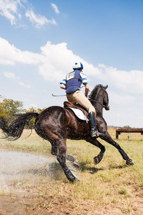 Imagem de passeios a cavalo com alta velocidade do obturador