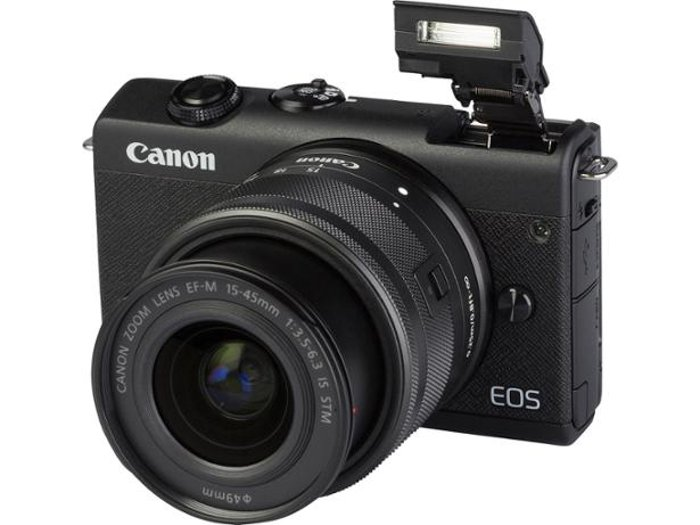 An Image of the Canon M200 mirrorless camera
