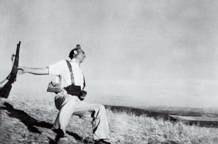 The Falling Soldier, photograph by Robert Capa