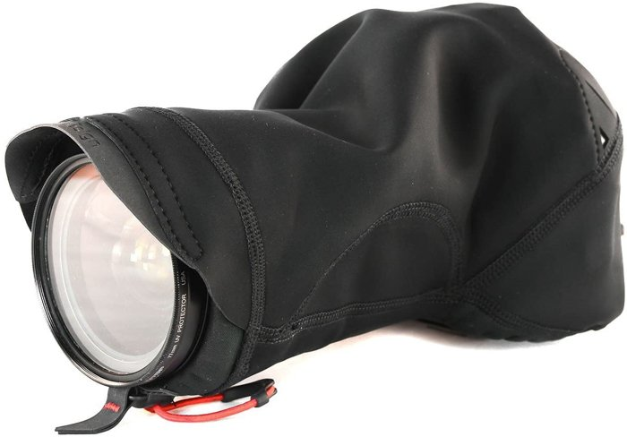 Picture of a waterproof camera rain cover.