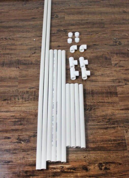 Image of PVC backdrop holders