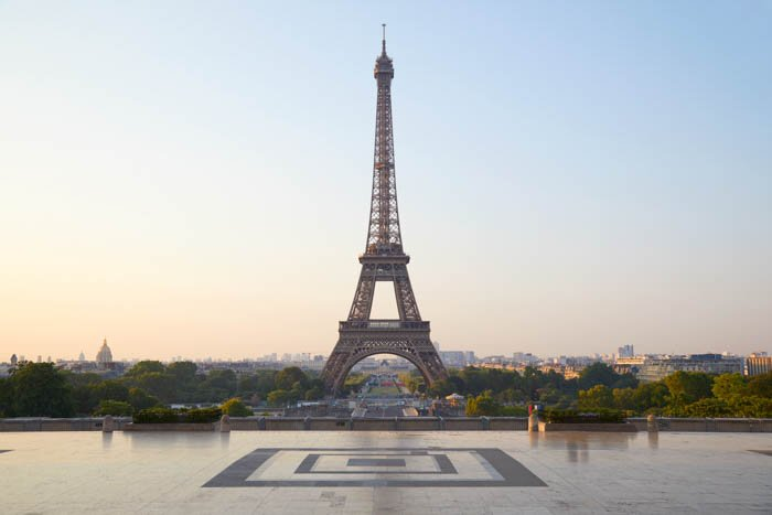 Retouched image with the Eiffel Tower