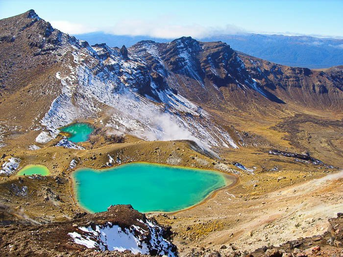 travel photography image of a landscape with mountains and a lake