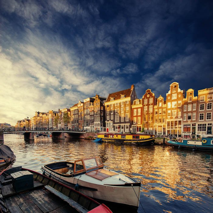 A beautiful cityscape image from Amsterdam